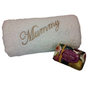 Personalised bath towel & Castelbel soap