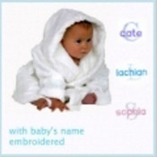 Personalised Baby Bath Robe Plus Bonus Brush, Comb & Socks Set
