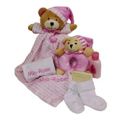 Personalised Snuggle blanket Gift Set