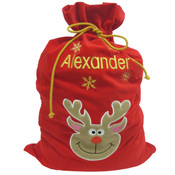 Personalised Christmas Gift Sack - Reindeer