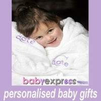 Baby's Personalised Dressing Gown,Hand Towel,Washer & Bodysuit Gift Box Thumbnail