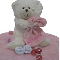 Personalised Knitted Blanket and Pebbles Teddy + Bonus Gift Thumbnail
