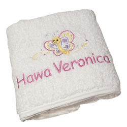 Little Butterfly Personalised Bath Towel Thumbnail